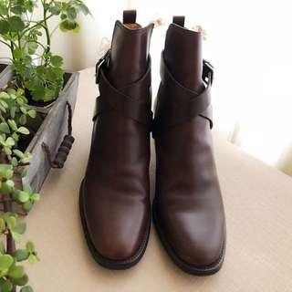 Hermès 皮革短靴~37號