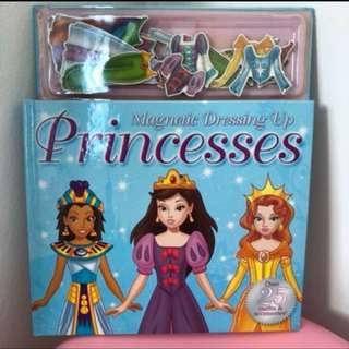 Princess read and magnetic dress up