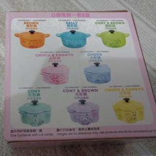 7-11 LE CREUSET Line Friend糖果盒 7個 (缺紫色花形)