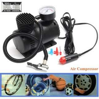 Portable DC 12V 300 PSI Inflatable Pump Air Compressor Auto Car Pump Electric Tire Inflator - NEW