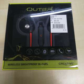 Brand new unopened Creative Outlier Sport wireless sweatproof in-ears
