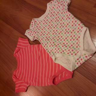 3-6m Mothercare Bodysuits set of 2