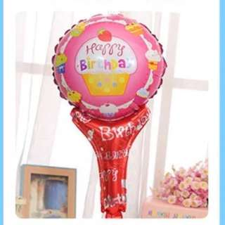 🌈 kids birthday handheld balloons / party gifts