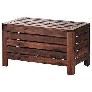 Wooden bench w/ storage