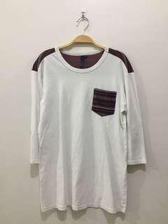 Quarter Sleeve White Top