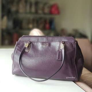 Authentic Coach Madison Kimberly Leather Carry Handbag 25161