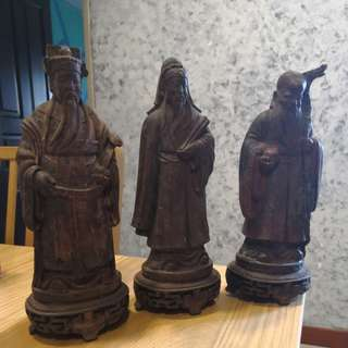 Fu Lu Shou statues (selling as a set)