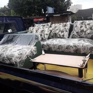 Sofa L Putus Plus Meja kaca Kredit Cicilan 0%