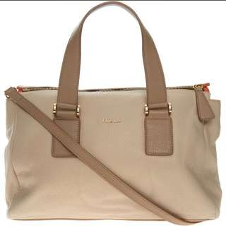 FURLA Cream Medium Satchel Bag