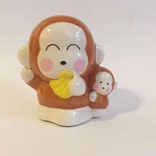 Sanrio vintage Monkichi 馬騮 錢罌 10cm 陶瓷 1997