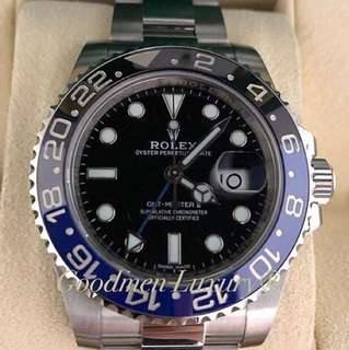 Preowned Authentic Rolex GMT Master II 116710BLNR Batman for sale