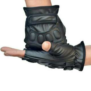 Men's Sports Driving Glove Soft PU Leather Motorcycle Biker