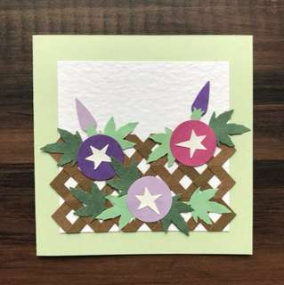 Handmade mini card 'Morning Glory'