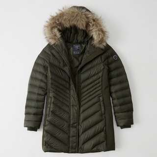 Abercrombie & Fitch Womens Down-Filled Parka