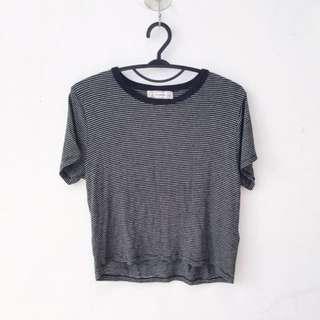Pull&Bear Stripe Tshirt Crop