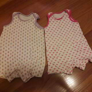 BabyUniqlo Rompers set of 2
