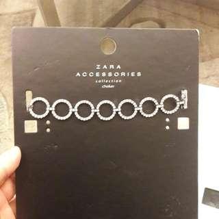 Choker zara original aksesoris zara ori gelang kalung perhiasan