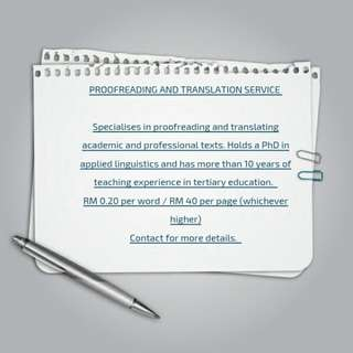 Proofreading and Translation Services