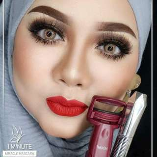 1 minute miracle mascara with curler