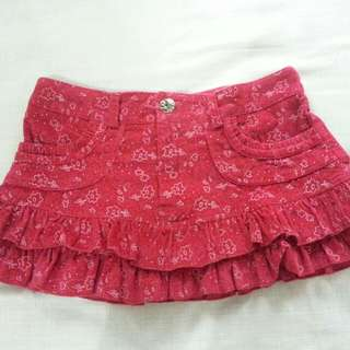 Rok anak denim pink size S preloved