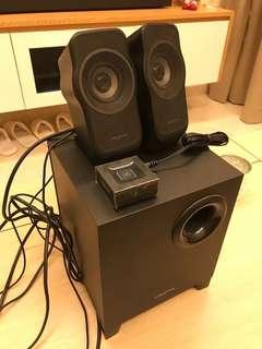 Creative Speaker A350 2.1 + Logitech Bluetooth receiver