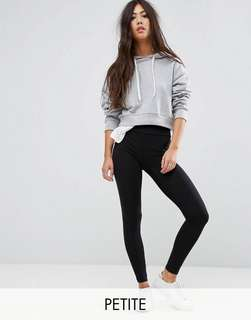 High waist petite new look black leggings with tag