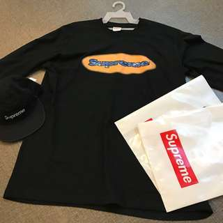Supreme SS18 long Sleeve Tee and Cap