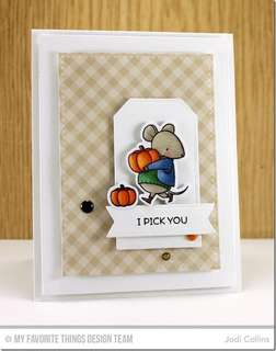 Mouse Card Making Rubber Stamps