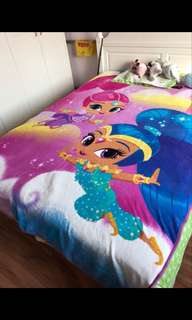 PO shimmer and shine blankets size ht 229cm wt 157cm brand new