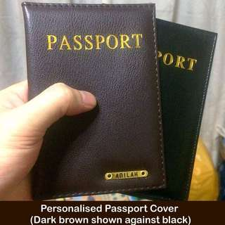 Personalised Passport Covers / Holders [faux leather customised gifts presents handmade uncle.anthony uncle anthony uac] FOR MORE PHOTOS & DETAILS, GO HERE: 👉  http://carousell.com/p/151158092