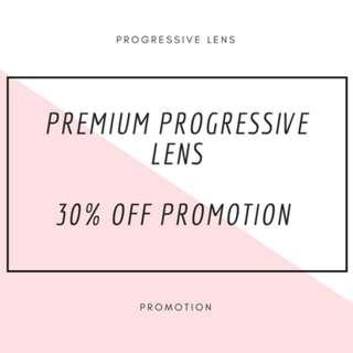 Progressive lens promotion