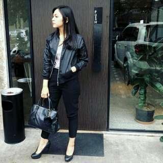 Leather jacket, leather bomber