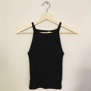 H&M Divided Black Knit Top