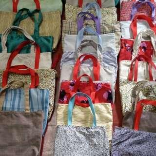自己裁縫制作/布料環保袋/設有內袋/有拉鍊
