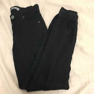 Wakee Denim Black Pants with Pockets - Size 10