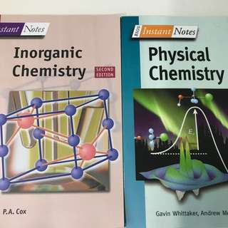 Chemistry A levels Instant Notes: Physical and Inorganic chemistry