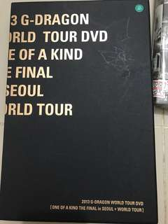 2013 g dragon world tour dvd one of a kind the final in Seoul world tour