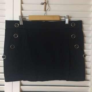 COTTON ON black mini skirt