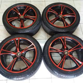 Velg A.speed r17 pcd 4x100 + ban 215-45