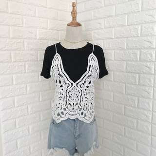 Lace String Top