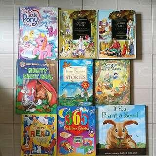 9 Big Size Hardcover English Story Books