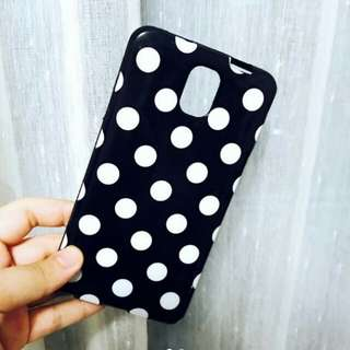 Case motif polka dot Samsung note 3