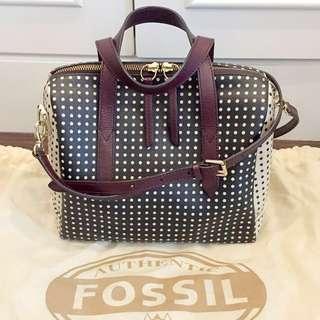 Fossil sydney satchel crossbody handbag