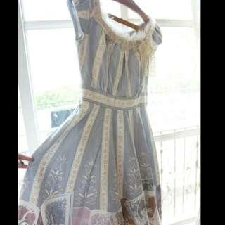 Secret Honey Japanese Disney Princesses Lolita Blue Dress