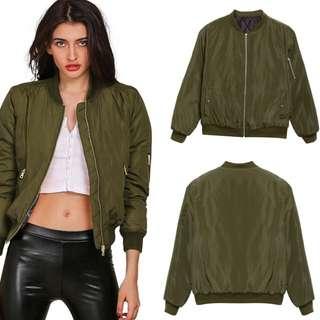 Bomber Jacket (Olive green)