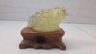 黄水晶金蟾 citrine toad