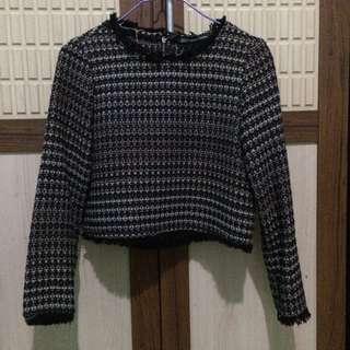 Zara Tweed Cropped Top