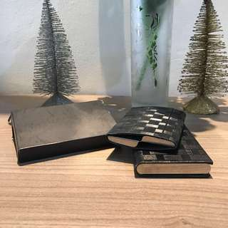 Name Card Holder kulit stainless