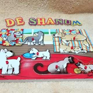 Melissa & Doug Puzzle mainan edukasi anak preloved branded