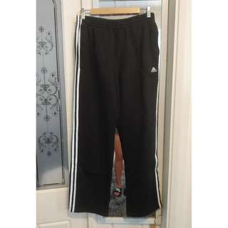 ADIDAS Mens Jogger Pants 3 Stripes White Decal Track Pants